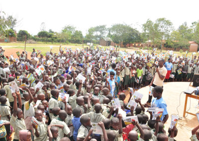 Comic book event at a school near Nyabarongo wetland 2