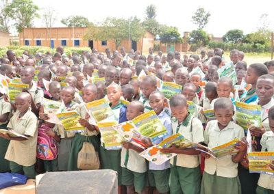 Comic book event at a school near Nyabarongo wetland
