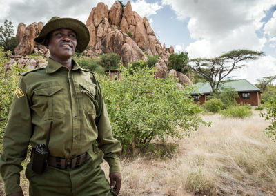 Community Conservancy Rangers work hand in hand with Conservancy managers to provide security for people and wildlif
