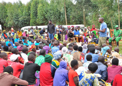 Educating communities at the tree planting event