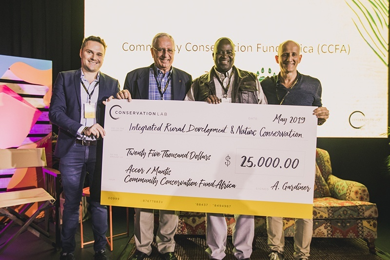 Accor and Mantis present CCFA Conservation Lab Award 2019 to Namibia Elephant Protection Project