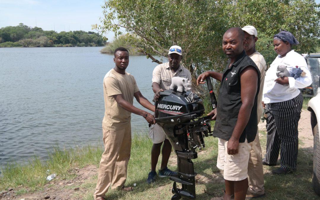 New boat engine for kanesu village community